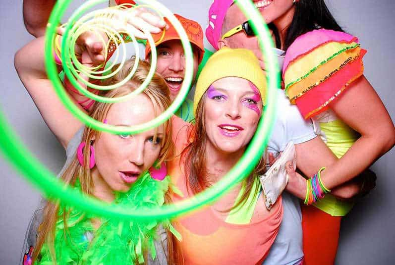 Neon dressed partiers Party Booths