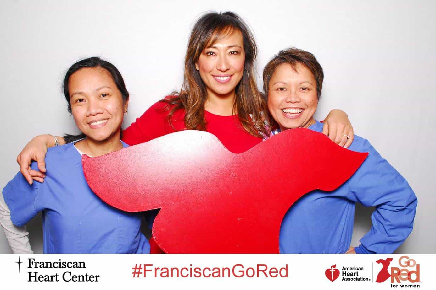 American Heart Association Go Red 1000 Words Photo Booth