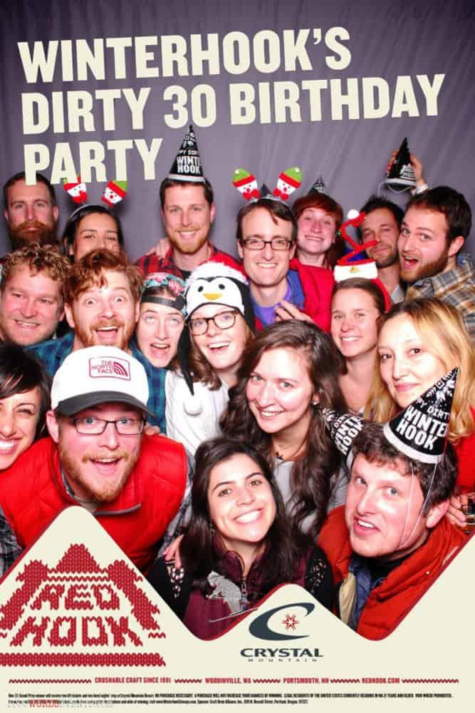 Eighteen people in a photo booth Redhook WINTERHOOK