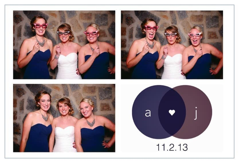 wedding photo booth photostrip example