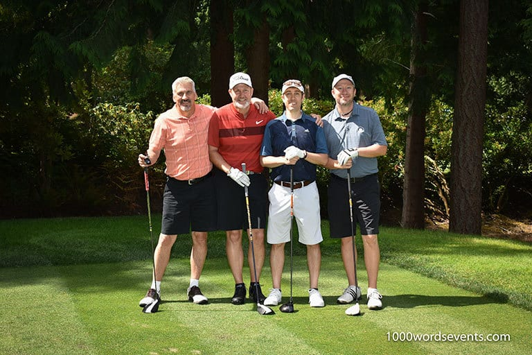 Golf foursome at CBRE Tournament 1000 Words events photography