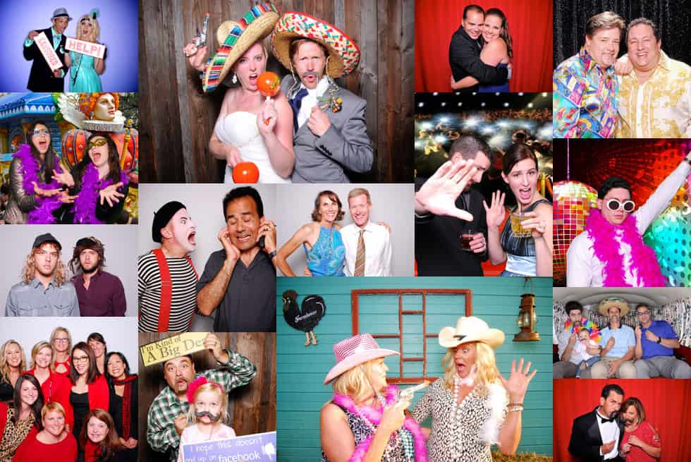 Seattle Tacoma Photo booth rental colage