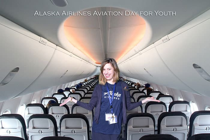 Filght attendant on airplane green screen by 1000 words events