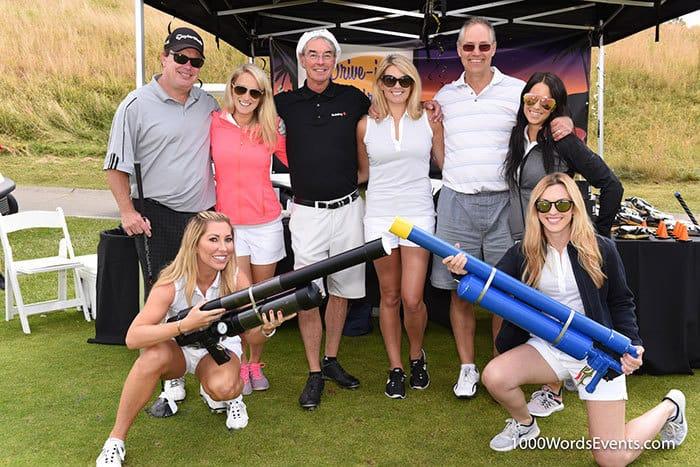 Brand ambassodors working at a golf tournament
