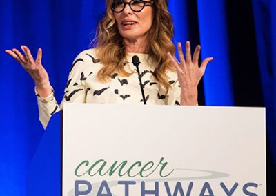 Carole Radziwill speaking for Cancer Pathways