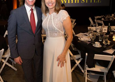 Michelle Millman and Matt Lorch at the Surviving with style fundraiser