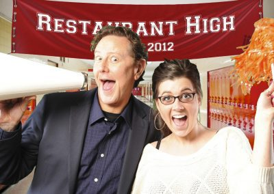 Green Screen photo booth activation in Seattle Washington. Judge Reinhold was the special guest at the conference named Fast times at Restaurant High.